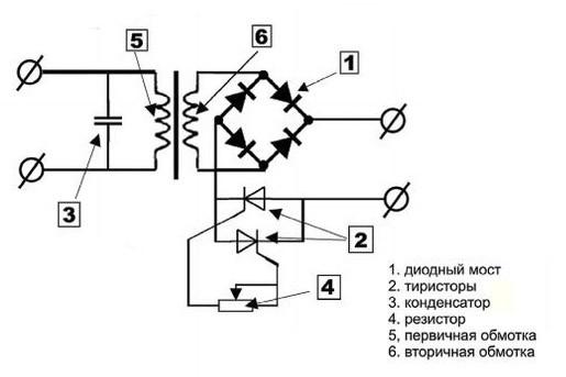 схема сварочного аппарата с мостом