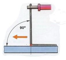 угол наклона электрода 3