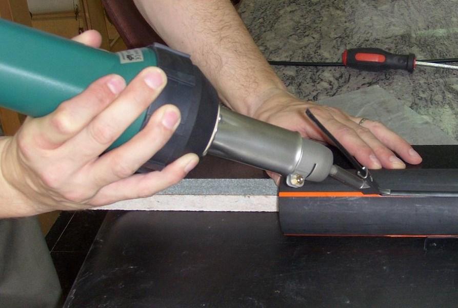 применение фена для сварки
