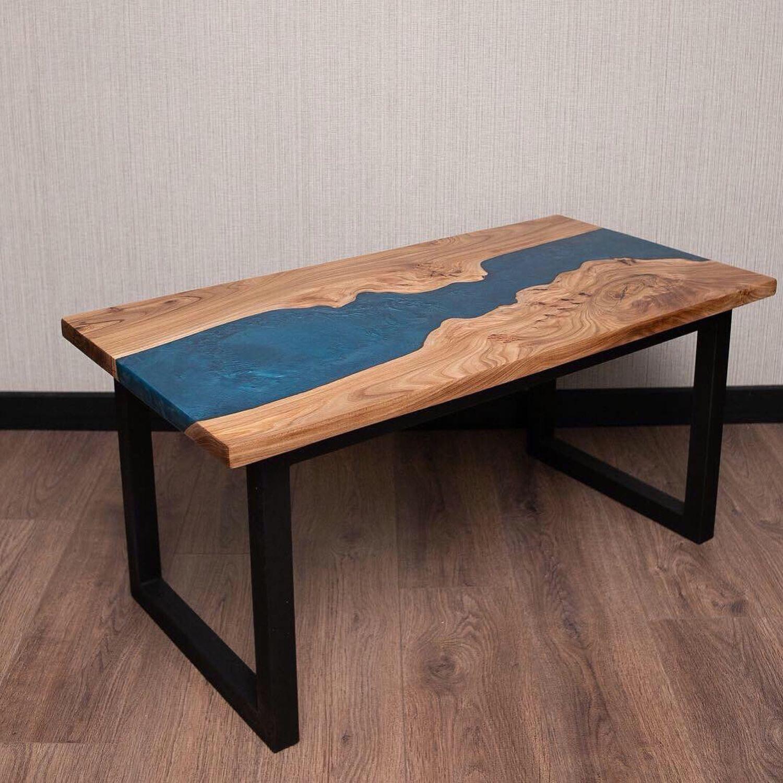 стол из слэба и профтрубы