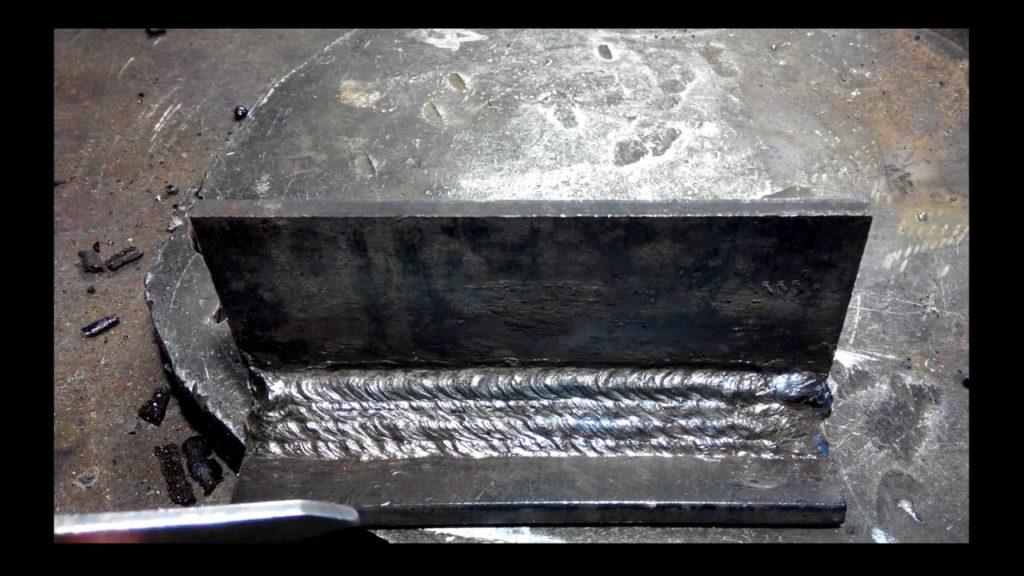 сваренный полуавтоматом толстый металл